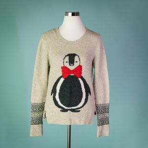 Abercrombie S Oatmeal Penguin Sweater